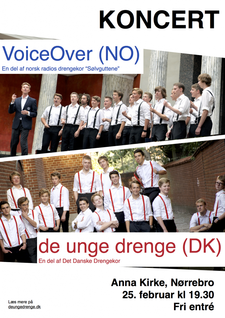 DUD VoiceOver koncertplakat